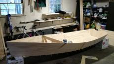 Boat early on in the building process
