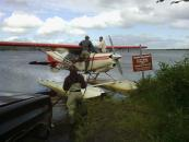 Refueling a float plane