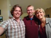 With Kyle and Kristen, my generous hosts.